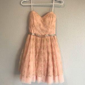 "Soft pink strapless ""cupcake"" dress"